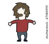 stressed man cartoon   Shutterstock .eps vector #67484995