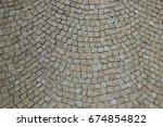 cobbled stone road regular...   Shutterstock . vector #674854822