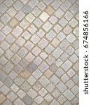 cobbled stone road regular... | Shutterstock . vector #674856166