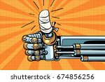 thumb up like gesture  the... | Shutterstock . vector #674856256