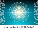 abstract background  geometry ... | Shutterstock .eps vector #674866966