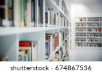Small photo of Books in the new, modern library in Stuttgart, Germany
