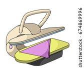 press for ironing linen. dry... | Shutterstock .eps vector #674869996
