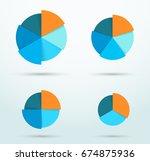 infographic pie chart segment... | Shutterstock .eps vector #674875936