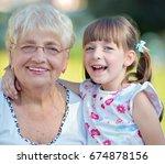 closeup summer portrait of... | Shutterstock . vector #674878156