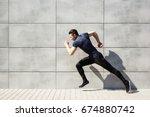 full length portrait of a... | Shutterstock . vector #674880742