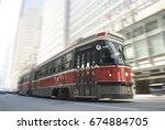 ttc streetcar | Shutterstock . vector #674884705