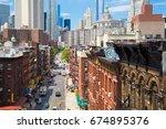 new york city   july 26  2013 ...   Shutterstock . vector #674895376