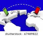 Mobile communication - stock photo