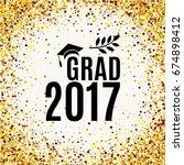 graduation 2017 class of... | Shutterstock .eps vector #674898412