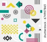 trendy seamless geometric... | Shutterstock .eps vector #674907865