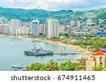 A Mexican Warship In Acapulco...