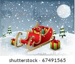 christmas illustration santa... | Shutterstock .eps vector #67491565