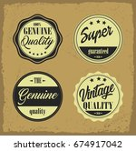 retro vintage labels with... | Shutterstock .eps vector #674917042