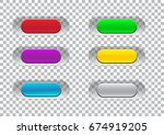 transparent click here button... | Shutterstock .eps vector #674919205