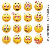 cute smiley emoji feeling in... | Shutterstock .eps vector #674920672