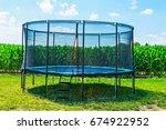 Garden Big Trampoline On The...
