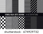 black and white stripes ... | Shutterstock .eps vector #674929732