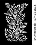 beautiful monochrome black and... | Shutterstock . vector #674931616