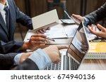 business people meeting.... | Shutterstock . vector #674940136