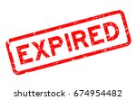 grunge red expired square...   Shutterstock .eps vector #674954482