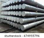 heap of aluminium bar in... | Shutterstock . vector #674955796