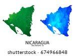couple polygon set map   high... | Shutterstock .eps vector #674966848