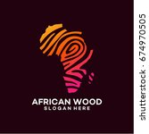 modern african wood logo... | Shutterstock .eps vector #674970505