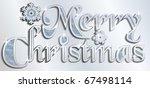 silver merry christmas vector | Shutterstock .eps vector #67498114