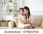 beautiful asian young woman... | Shutterstock . vector #675002926