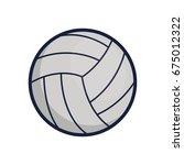 volleyball | Shutterstock .eps vector #675012322