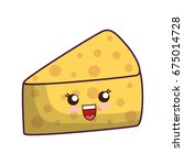piece of cheese icon   Shutterstock .eps vector #675014728