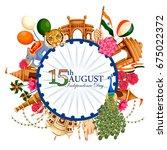 vector illustration of indian... | Shutterstock .eps vector #675022372