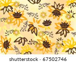 illustration with yellow flower ... | Shutterstock .eps vector #67502746