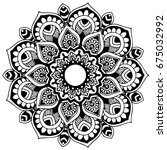 mandalas for coloring book.... | Shutterstock .eps vector #675032992