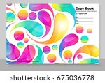 cover copybook with abstract... | Shutterstock .eps vector #675036778