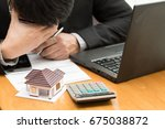 stress from home debt which to... | Shutterstock . vector #675038872