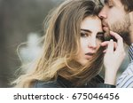 sexy man and girl with fashion... | Shutterstock . vector #675046456