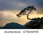 sokolica peak in pieniny... | Shutterstock . vector #675046945
