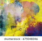 abstract mixed media artwork on ... | Shutterstock . vector #675048346