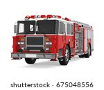 Fire Rescue Truck Isolated. 3d...