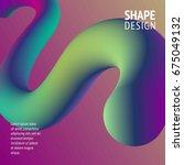 fluid color background. liquid... | Shutterstock .eps vector #675049132