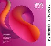 fluid color background. liquid... | Shutterstock .eps vector #675049162