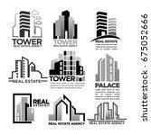 residential buildings houses... | Shutterstock .eps vector #675052666