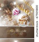 merry christmas elegant... | Shutterstock .eps vector #67505800