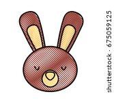 cute and tender rabbit | Shutterstock .eps vector #675059125