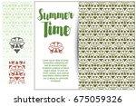 seamless pattern background.... | Shutterstock .eps vector #675059326