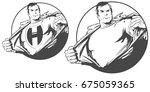 people in retro style pop art... | Shutterstock .eps vector #675059365
