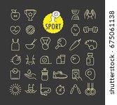 different sport icons vector... | Shutterstock .eps vector #675061138
