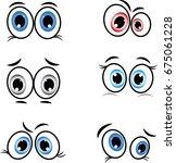 cartoon eyes in vector | Shutterstock .eps vector #675061228